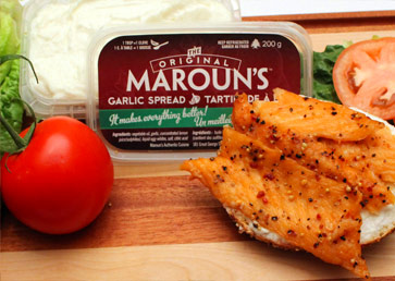 Original Maroun's with Smoked Salmon Bagel